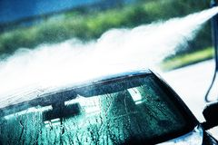 Washing Car in Car Wash Stock Images