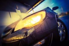 Washing Car Closeup Royalty Free Stock Photos
