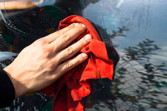 Washing car detail Stock Photos