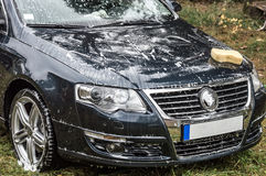 Washing the car Royalty Free Stock Photo