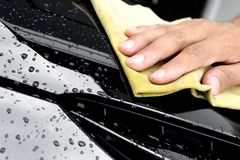 Washing the car Royalty Free Stock Photos