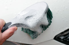 Washing car Stock Image