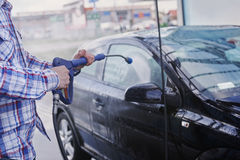 Washing car Stock Photography