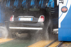 Washing car wheels Royalty Free Stock Photo