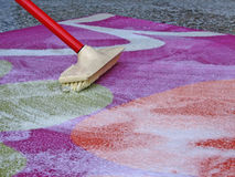 Washing carpet Royalty Free Stock Photos