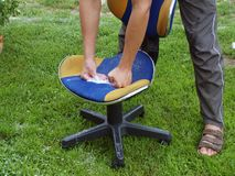 Washing chair Stock Images