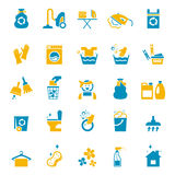 Washing and cleaning icons Stock Photos