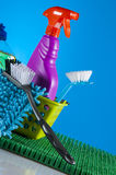 Washing, cleaning, saturated version Stock Images