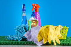 Washing, cleaning, saturated version Royalty Free Stock Photo