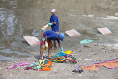 Washing cloth Stock Photo