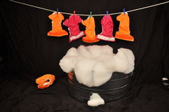 Washing Cloth Diapers Laundry Royalty Free Stock Photos