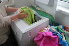 Washing clothes 02 stock images