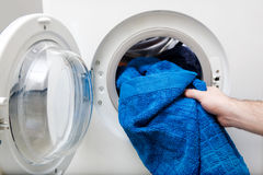 Washing Clothes Stock Photo