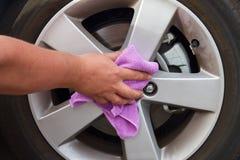 Washing coated wheels Stock Images
