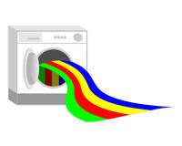 Washing colors Royalty Free Stock Photography