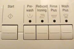 Washing controls Stock Image