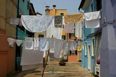 Washing day. Laundry day Stock Photo