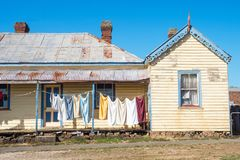 Washing Day in Carrick. Washing day at the small historic village of Carrick in Tasmania, Australia royalty free stock image