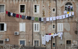 Washing day Dubrovnik Royalty Free Stock Photo