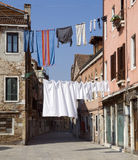 Washing day, Venice Royalty Free Stock Photography