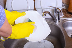 Washing dish Royalty Free Stock Images