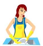 Washing Dishes stock photography