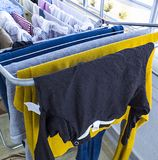 Washing and drying clothes hanger.  Stock Photos