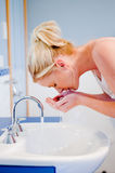 Washing Face Stock Image
