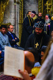 Washing of the Feet ceremony, in the Syrian Orthodox St. Marks c Royalty Free Stock Photo
