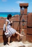Washing Feet In Paradise Royalty Free Stock Image