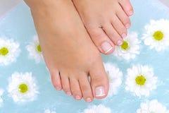 Washing female legs Royalty Free Stock Photo
