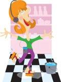 Washing the Floor Royalty Free Stock Image