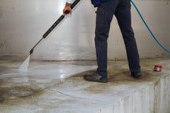 Washing the floor Stock Photography