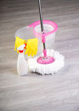 Washing floors, cleaning the apartment Royalty Free Stock Image
