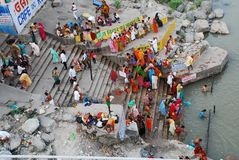Washing in the Ganges Royalty Free Stock Image