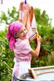 Washing girl Royalty Free Stock Image