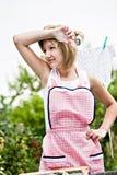 Washing girl Royalty Free Stock Images