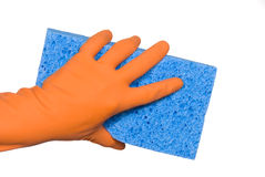Washing glove and sponge Royalty Free Stock Photography