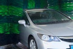Washing gray car Stock Image
