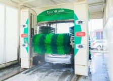 Washing gray car Royalty Free Stock Photos