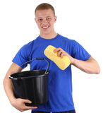 Washing guy Stock Images