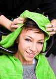 Washing hair Royalty Free Stock Photography