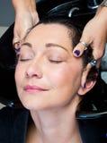 Washing hair and massage Stock Photography