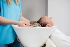 Washing Before Haircut Stock Photos