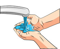 Washing Hand Stock Photo