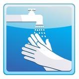 Washing hands royalty free illustration