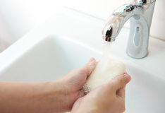 Washing hands Royalty Free Stock Photos