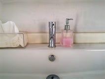 Washing hands  bathroom.Wash basin Stock Image