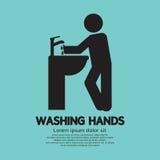 Washing Hands Black Graphic Symbol. Vector Illustration royalty free illustration