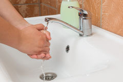 Washing Hands. Cleaning Hands. Hygiene Stock Photo